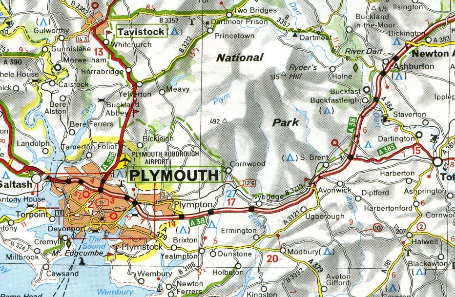 Map Of S England.503 Michelin Map Wales South West England The Midlands